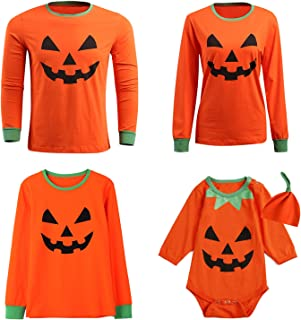 Baby Halloween Costume Outfit Pumpkin Family Matching Shirts