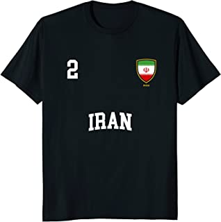 Iran T-Shirt 2 Iranian Flag Soccer Team Football Shirt