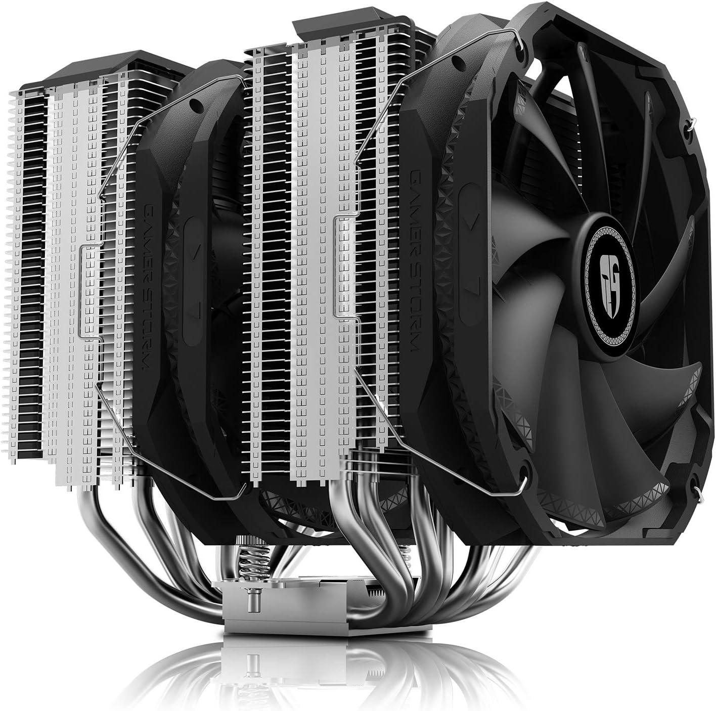 DEEP COOL Assassin III, Disipador de CPU, 7 Tubos del Calor, Doble Torre, Doble CPU Ventiladores de 140 mm, 54 mm de RAM, TDP de 280W,con Tecnología de Nueva Sinterización