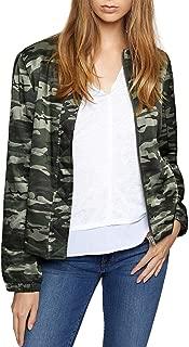 Sanctuary Womens Camo All You Need is Me Satin Trendy Bomber Jacket Coat BHFO