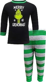 MJC Boys' Dr. Seuss The Grinch Merry Grinchmas Toddler Cotton Pajamas