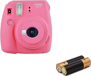 Fujifilm - Instax Mini 9 Instant Camera Product Bundles   Film Pack Options   Renewed (Mini 9 Camera Only, Flamingo Pink)
