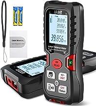 Metro Laser 60m/197ft, ARORY Misuratore Laser con 2 Livelli di Bolla, ±1mm Laser Misuratore Distanza con Display LCD a 4 R...