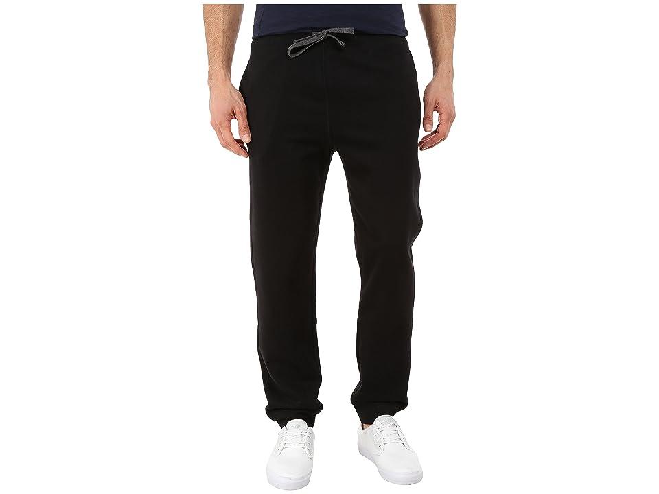 Nautica Knit Pants w/ Rib Cuff (True Black) Men