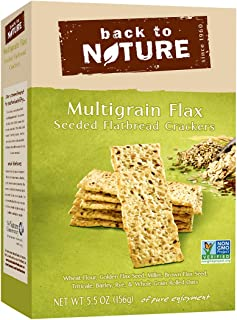 Back to Nature Crackers, Non-GMO Multigrain Flax Seed, 5.5 Ounce
