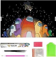 Among Us 5D Diamond Painting, Set Full Bilder DIY Diamond Painting,Rhinestone Mosaic Home Decor Crafts,Full Round Mosaic W...