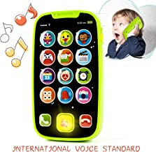 KidPal Baby Toy Phone for 1 2 Year Old with Light, Music  My First Smartphone Toy for Baby 8M 12M 16M 24M+ Toddler Cell Phone   Educational Call & Chat Learning Play Phone Toy for Role-Play Fun