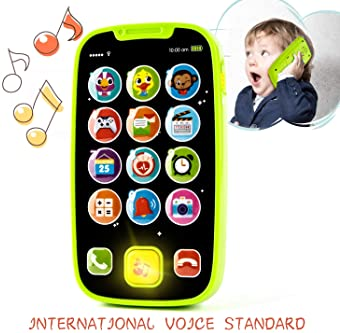 KidPal Baby Toy Phone for 1 2 Year Old with Light, Music| My First Smartphone Toy for Baby 8M 12M 16M 24M+ Toddler Ce...
