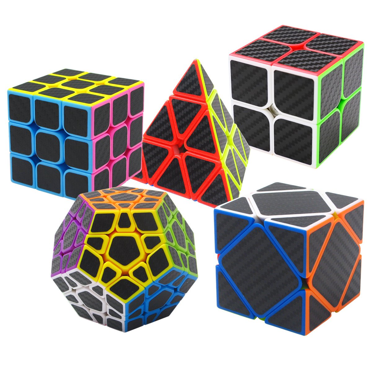 Coolzon Puzzle Cubes Megaminx + Pyraminx + 2x2x2 + 3x3x3 + Skewb 5 ...