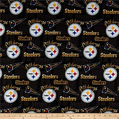 Traditions NFL Cotton Broadcloth Pittsburgh Steelers Retro Multi, Fabric by the Yard