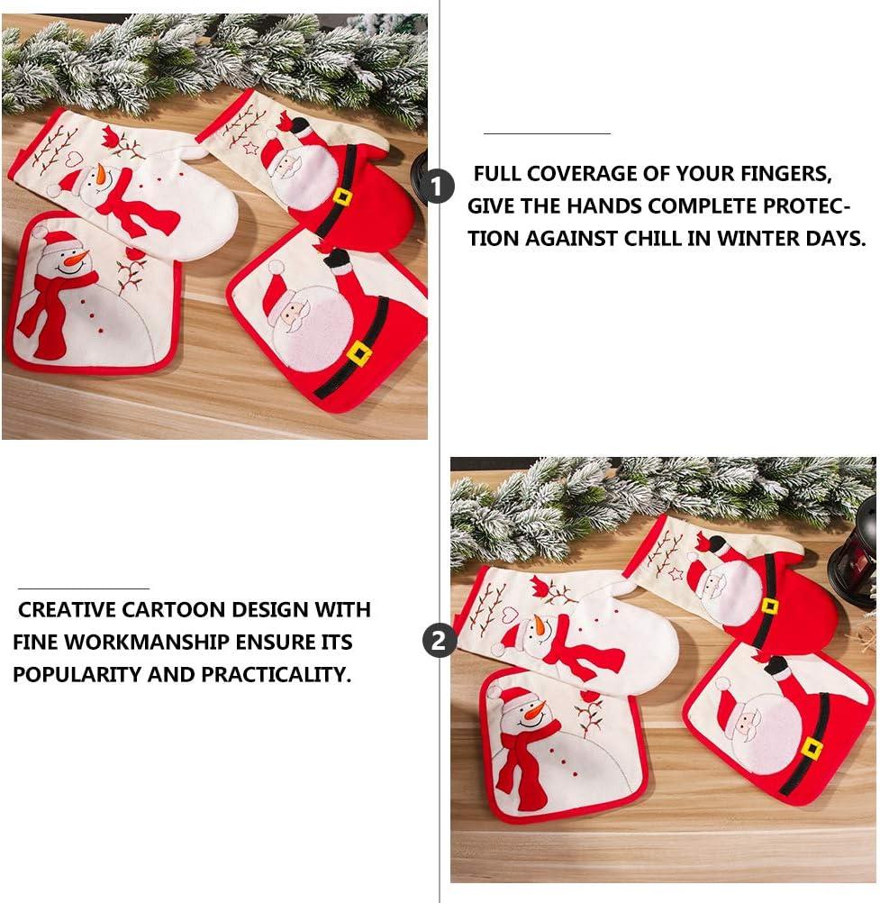 ABOOFAN 1Pc Practical Christmas Winter Glove Full Finger Mitten Warm Hands Protector Party Favor