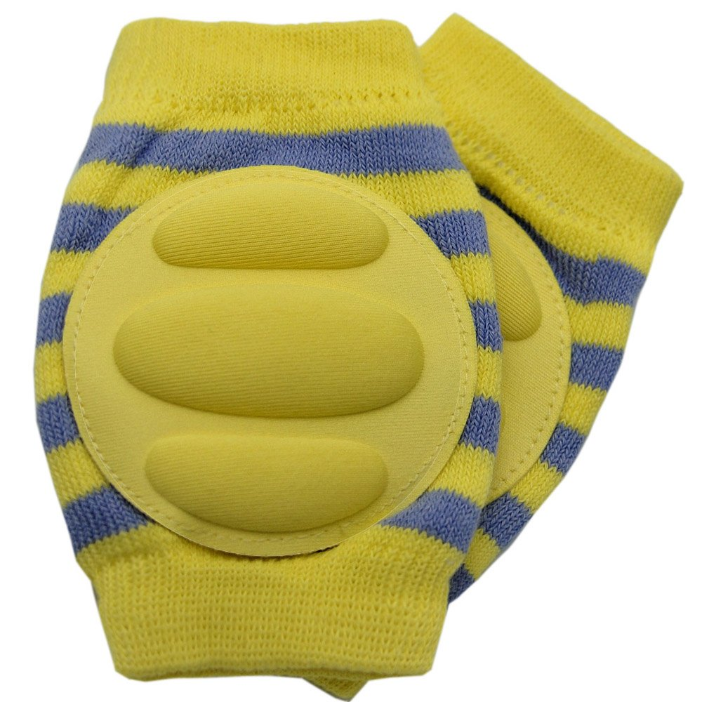 New Baby Crawling Knee Pad Toddler Elbow Pads 805518 Yellow-grey
