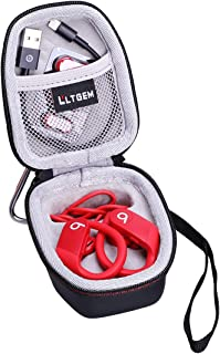 LTGEM Hard Case for Powerbeats High-Performance Wireless Earphones -Travel Protective Carrying Storage Bag with Carabiner-...