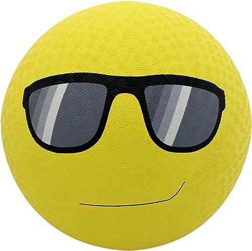 Baden Gummi Sonnenbrille Emoji-Spielplatz Ball, 21,6cm gelb