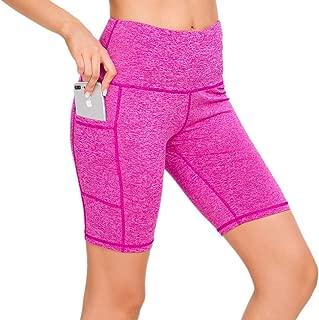 Custer's Night High Waist Out Pocket Yoga Short Tummy Control Workout Running 4 Way Stretch Yoga Leggings