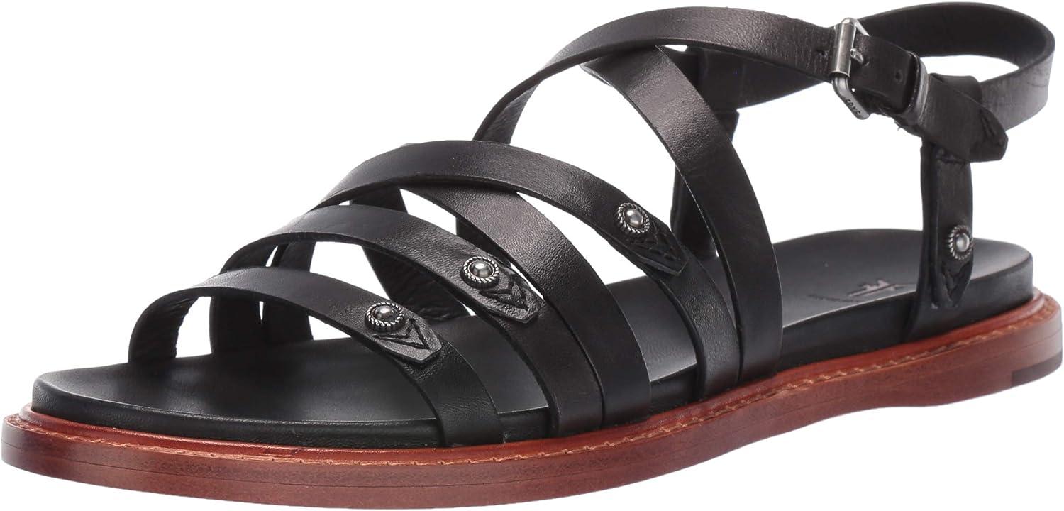 Frye Womens Alexa Strappy Sandal Flat Sandal