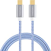 CableCreation USB C Cable 10ft 60W, Braided USB C to USB C 3A Fast Charging Cable 480Mbps, Compatible with MacBook(Pro), Galaxy S10/S9/S9+, Pixel 3 XL, etc (Blue)