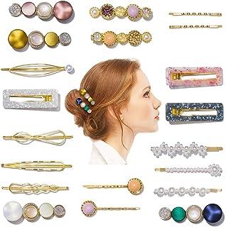 20 PCS Hair Clips for Women, [Handmade] Elegant Acrylic Resin Hair Barrettes, Marble Hairpins Fashion Hair Accessories Gif...