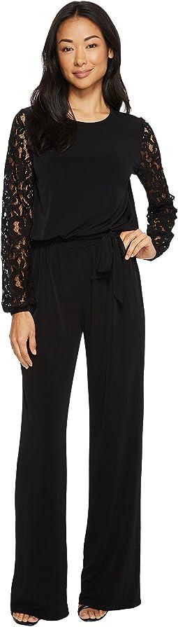 MICHAEL Michael Kors - Lace Sleeve Jumpsuit