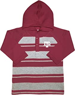 NCAA Texas A&M Aggies Toddler Boys Rugby Long Sleeve Hooded Shirt, Size 3, Maroon/Heather