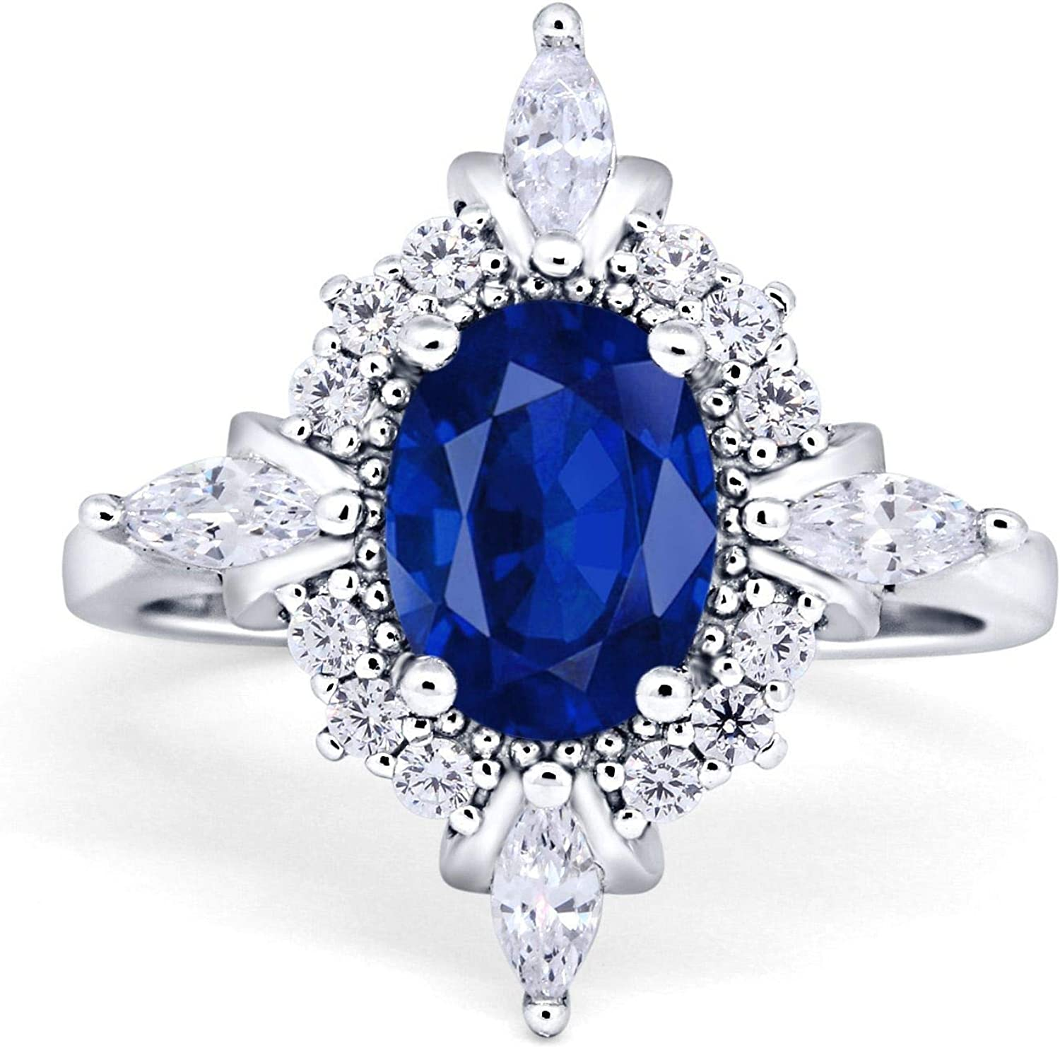 Blue Apple Co. Vintage Art Wedding Engagement Marquise Ring Cheap mail order shopping Department store Deco
