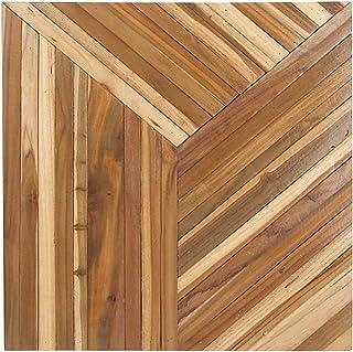 Deco 79 75592 Wooden Wall Panel, Light Blue