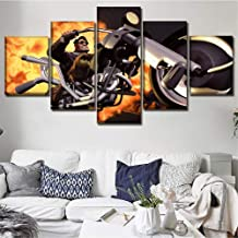 SDFGHY Canvas Wall Art Pictures 5 Pieces Full Throttle Remastered Game Art Prints Canvas Prints Poster Wall Art for Bedroo...