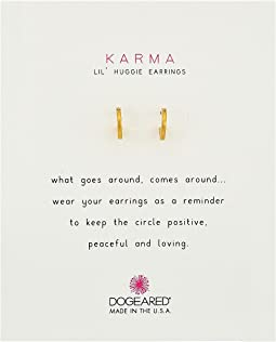 Dogeared Karma Huggie Earrings