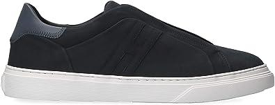 Hogan Slip On Sneakers Uomo HXM3650BE00IJX251W Pelle Blu