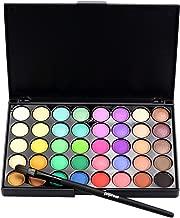 Popfeel Cosmetic Matte Eyeshadow Cream Makeup Palette Shimmer Set 40 Color+ Brush Set by DMZing (ESA-02)