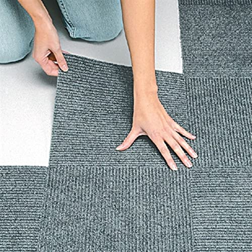discount Peel discount & Stick Berber Carpet Tiles online sale Set of 10 Gray By Jumbl sale