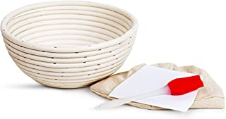 "HNCmua Bread Proofing Basket - Banneton Proofing Basket - Bread Proofing Box - Proofing Bowl - Banneton Basket - 10"" Bread..."