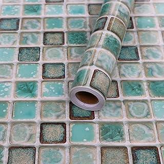 da13a9c34ee6 Hode Decorativos Adhesivo de Azulejo para Cocina, Baño 40X200cm Mosaico  Efecto 3D Pegatinas de Baldosas