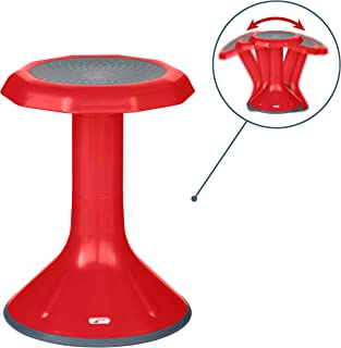"ECR4Kids ACE Active Core Engagement Wobble Stool for Kids, Flexible Classroom and Home Seating, 18"", Red"