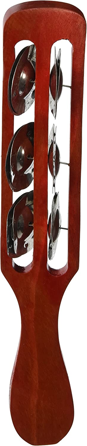 X8 Drums Jingle Red Tambourine Stick Free Shipping New Mail order cheap