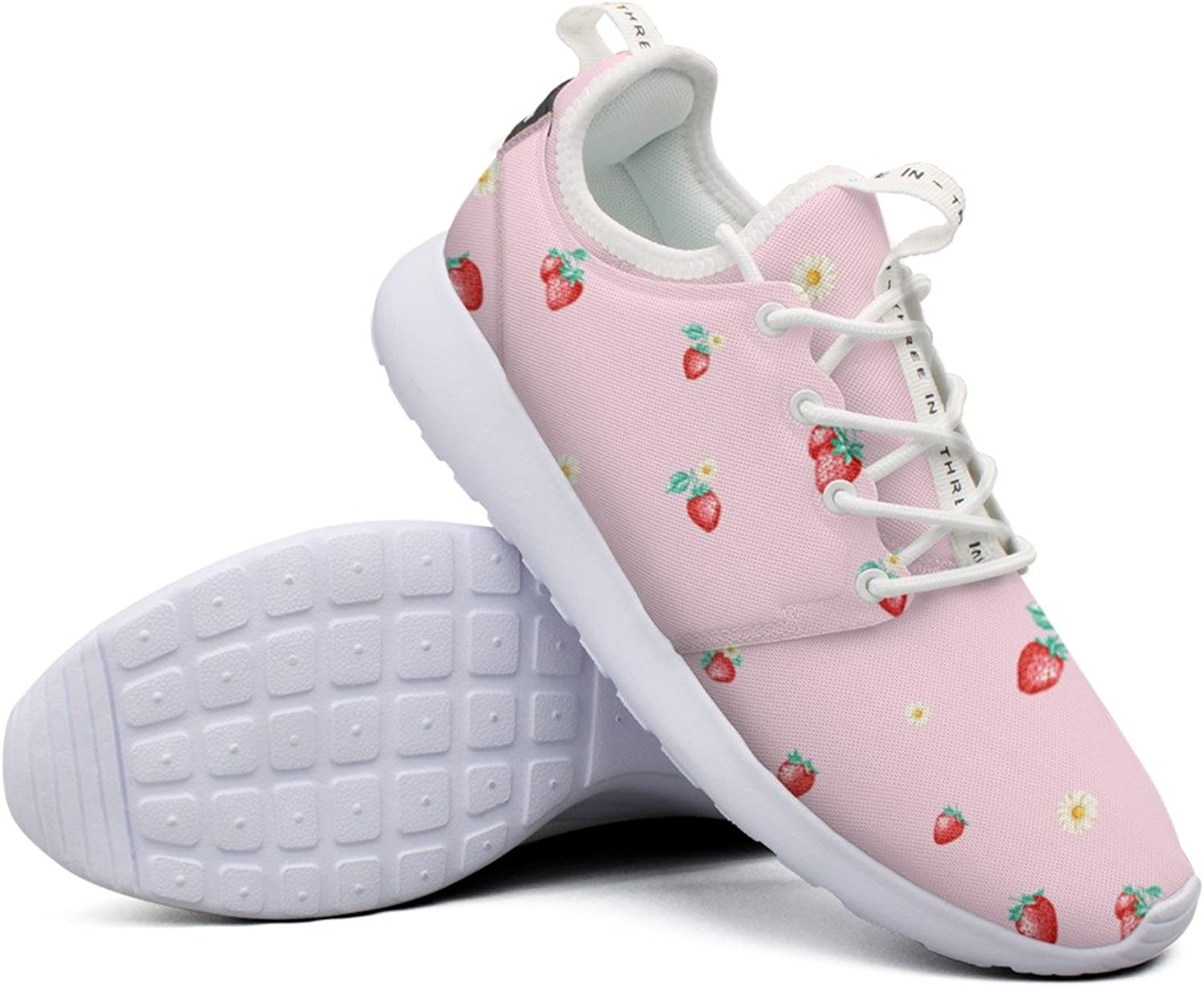 Attractive Women Freshly Picked Strawberries colorful Camping Funny Fashion Running shoes
