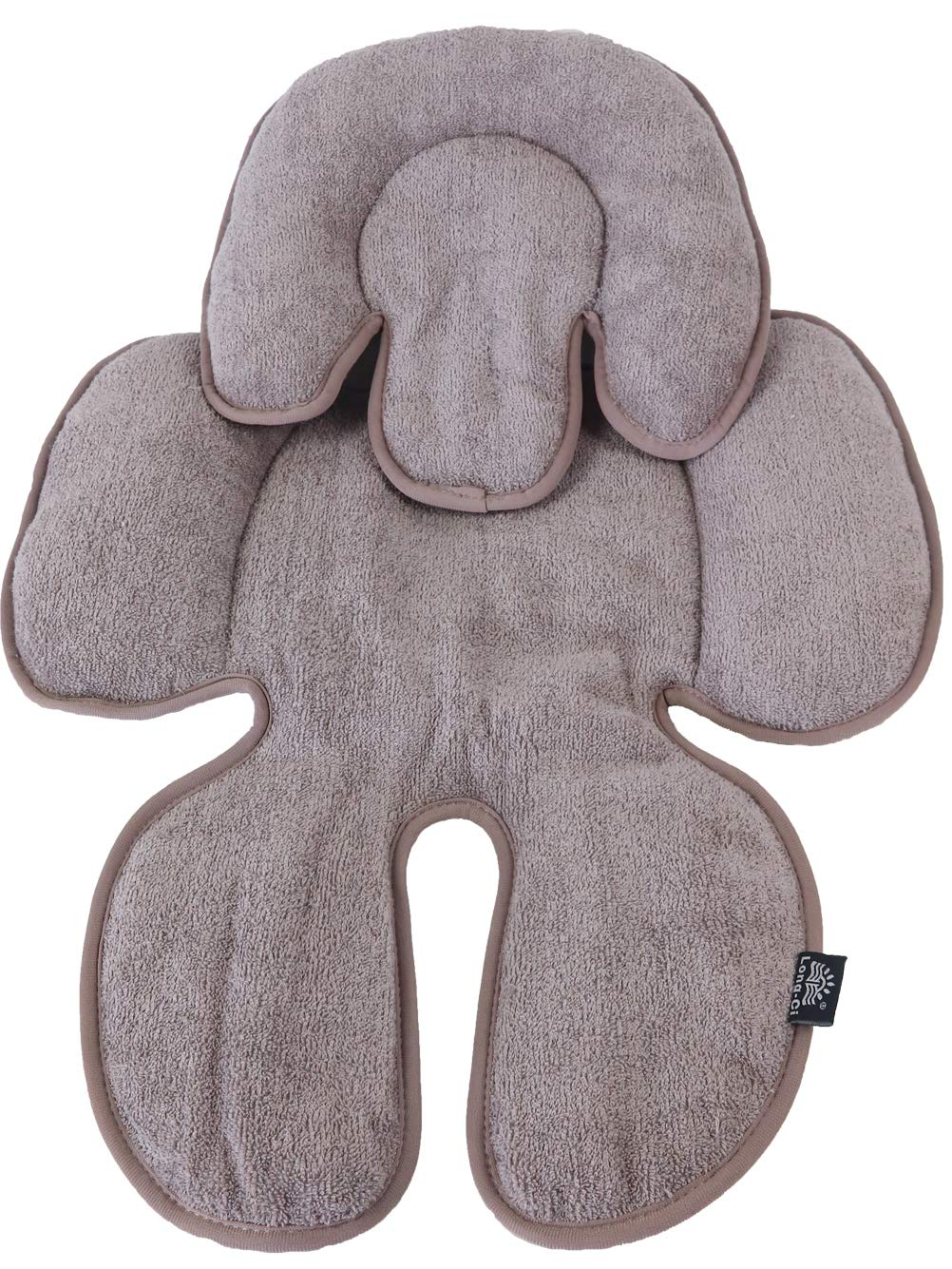 Long-Ci Baby&Toddler Head Support Reversible with Neck Body Pad for Car Seats,Strollers&Bouncers Grey