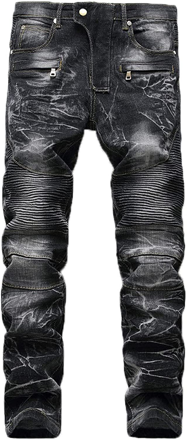 PHSHY Skinny Cheap bargain Jeans for Men Casual New products, world's highest quality popular! Hop F Hip Fit Slim Biker