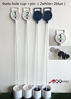 4sets of A99 Golf Practice Putting Flagstick w. Hole Cup 90cm (2Blue + 2White)