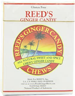 Reed's Ginger Candy Chews, 9 Pieces (Pack of 20)