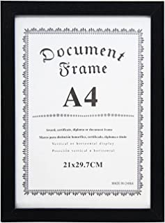 Marco para Diplomas, A4 Y A3, horizontal o vertical (A4 450F NEGRO)