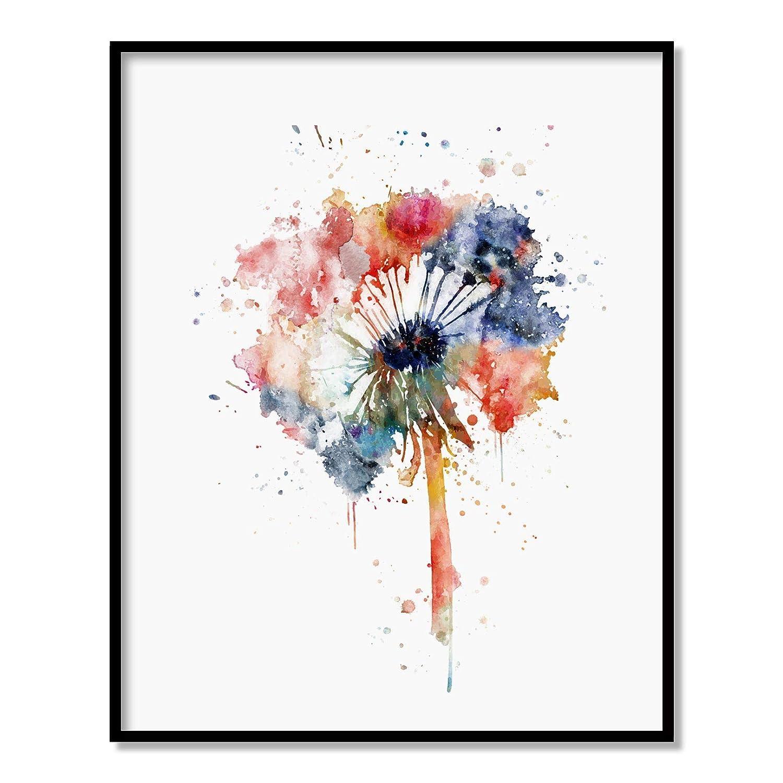 Ranking TOP15 Dandelion Flower Brand new Natural Art Print seed Watercolor