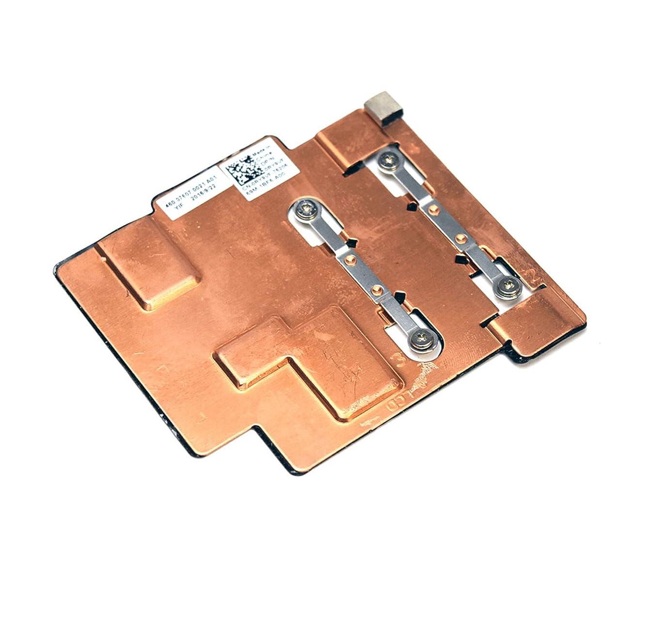 RY9VF Genuine OEM Dell Inspiron 11 3000 Series 3168 2-in-1 Laptop Notebook PC CPU Cooling Heatsink 460.07607.0021 Copper Plate Module w/Captive Screws Black Tape Foam Pad