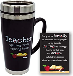 Teacher's Travel Mug - Insulated Coffee Thermos with Lid, Inspirational Teacher Appreciation Gifts, Gift For Professors, E...