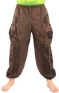 jing shop Women's Harem Pants Boho Hippie Chic Cotton