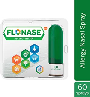 Flonase Allergy Relief Nasal Spray, Allergy Medicine Nose Spray, 24 Hour Non-Drowsy, 60 Sprays, 0.34 Fl Oz (Pack of 1)