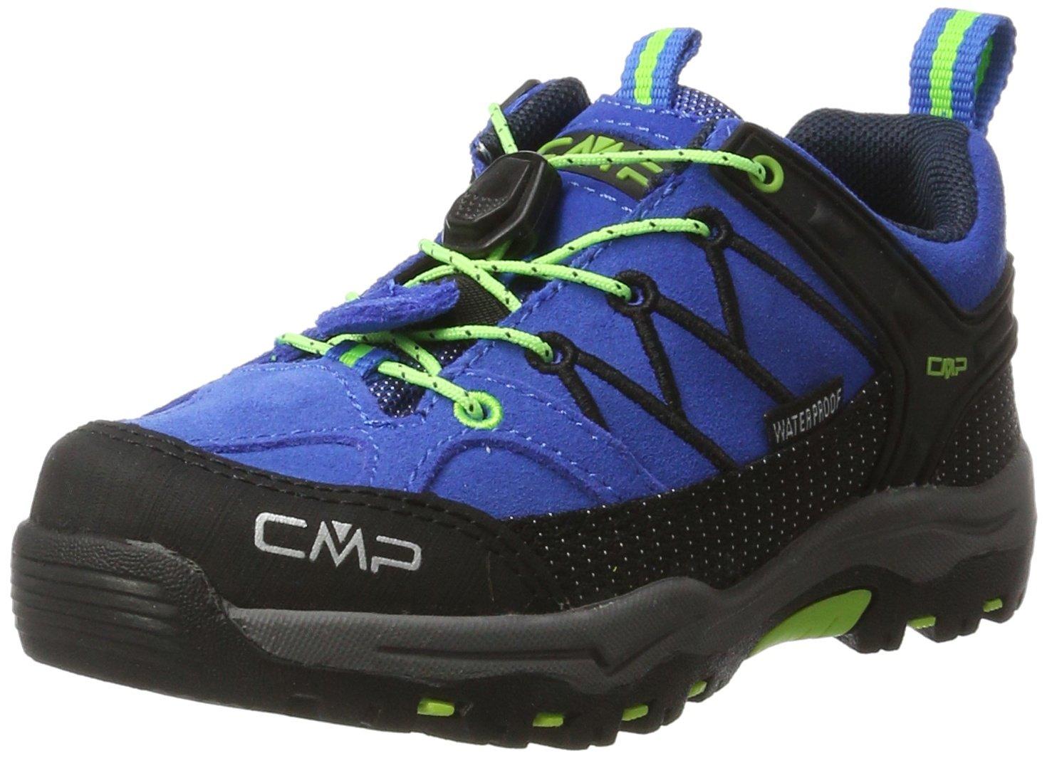 CMP Rigel Low Trekking- & Wanderschuhe Unisex-Kinder, Blau (Royal-Frog 94bd), 32