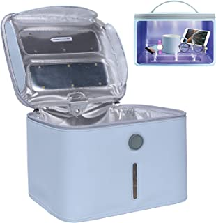 UV Box, LED UVC Cleaner Bag Portable Large Size Light Box for Phone, Beauty Tools, 99% Cleaned within 3 mins Blue