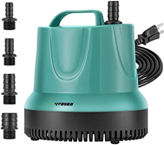 VIVOSUN 850GPH Submersible Pump (3500L/H, 60W), Ultra Quiet Water Pump with 9.2ft High Lift, Fountain Pump with 5ft Power ...