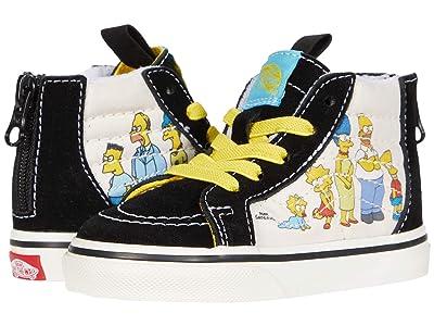Vans Kids Vans X The Simpsons Sneaker Collection (Infant/Toddler) ((The Simpsons) 1987-2020 (Sk8-Hi Zip)) Kid